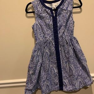 CrewCuts Blue and White Dress Size 14